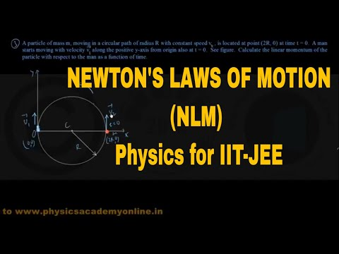 PROBLEMS ON NEWTON'S LAWS OF MOTION (Part-IV) (NLM) CE _Physics for IIT-JEE _ Physics Academy Online