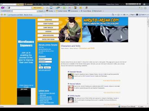 Web Browser Game Review:Naruto-Arena Admin Trick