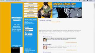 Web Browser Game Review:Naruto-Arena Admin Trick