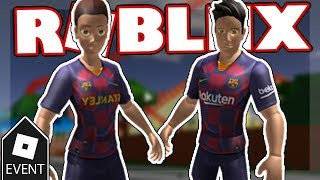 [event] how to get two fc barcelona rthro bundles | roblox