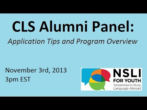 CLS Alumni Panel: Application Tips and Program Overview