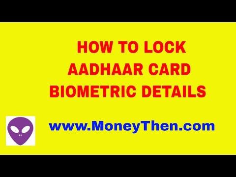 HOW TO LOCK YOUR AADHAAR CARD BIOMETRIC DETAILS