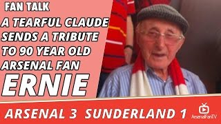 A Tearful Claude Sends A Tribute To 90 Year Old Arsenal Fan Ernie