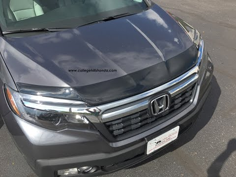 Fits Honda Ridgeline 2017-2019 AVS Aeroskin Smoked Hood Protector Bug Deflector