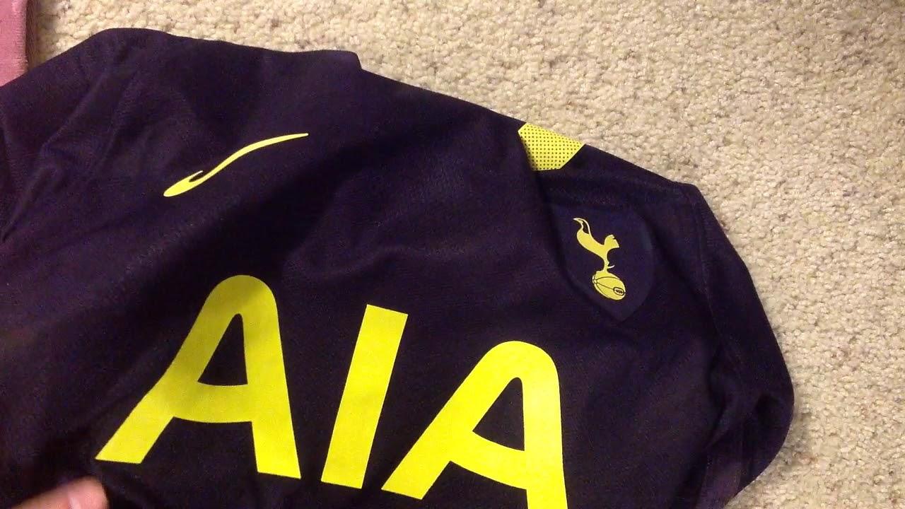 Tottenham third kit player version jersey review 17-18 - YouTube
