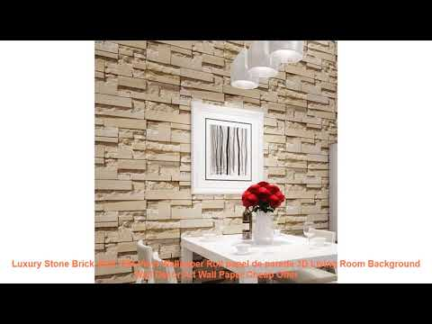 Luxury Stone Brick Wall 10M Vinyl Wallpaper Roll papel de parede 3D Li