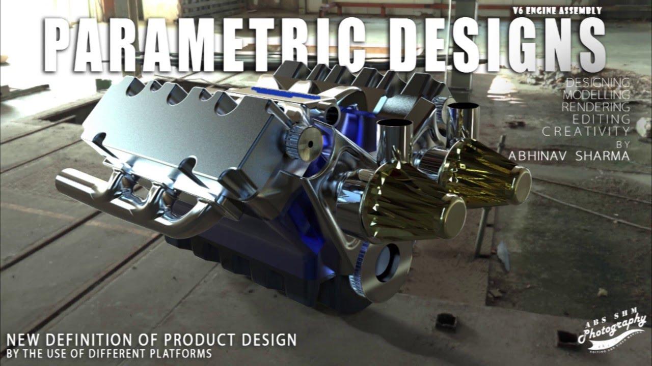 Keyshot Pro   V6 Engine exploded view Animation   60fps Final Output ...