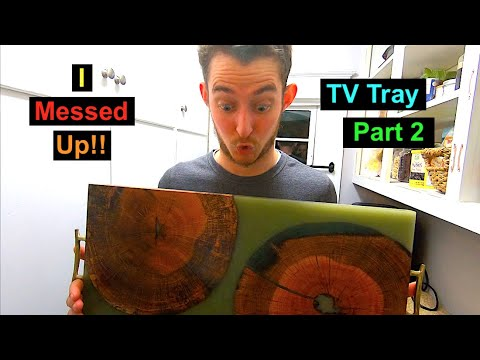 DIY: How to Make a Serving Tray/ TV tray from wood Cookis and Epoxy Resin!!!! Part 2