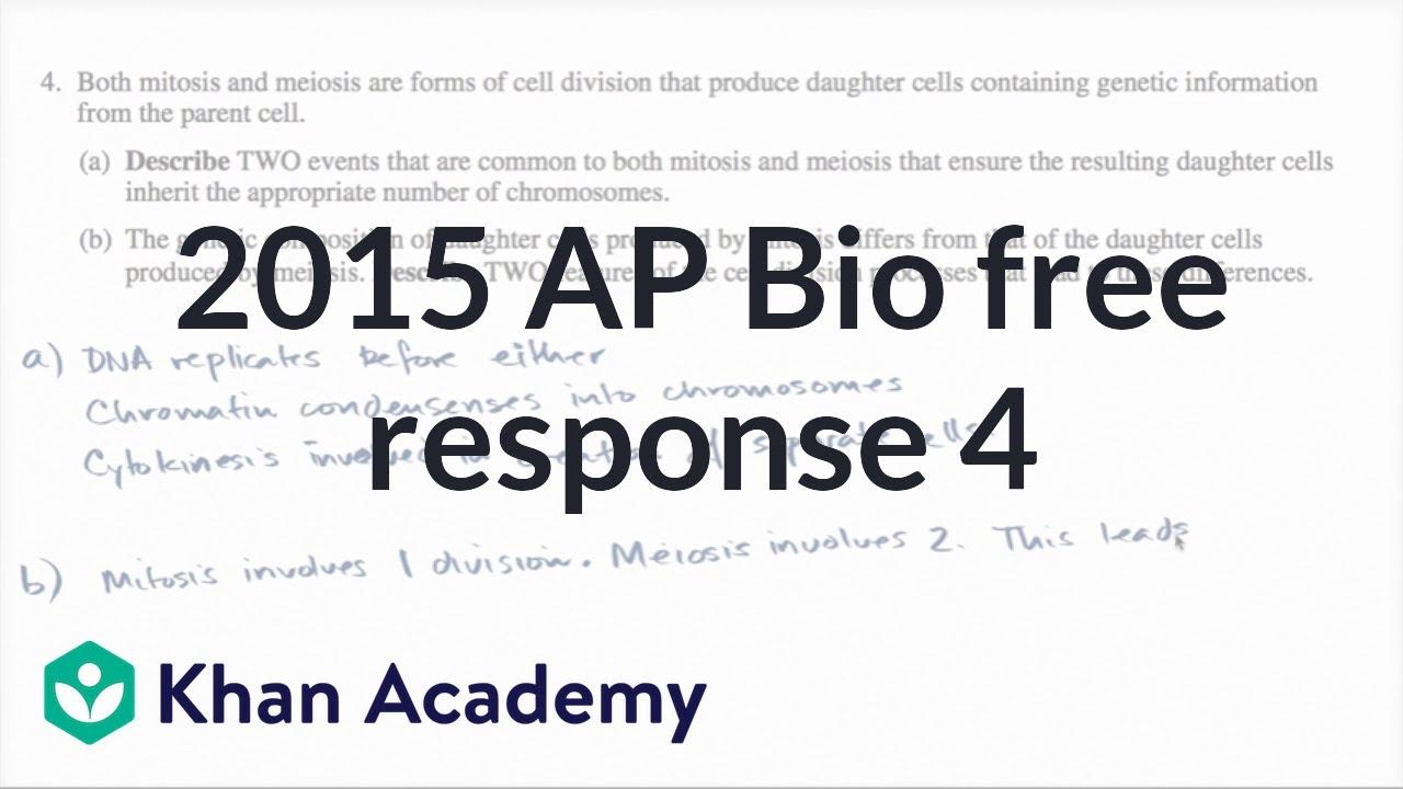 ap biology essay answers 2004