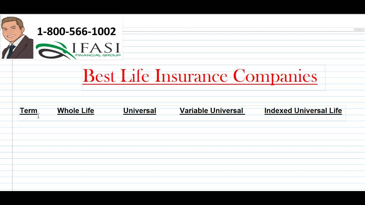 Best Life Insurance >> Best Life Insurance Companies What Are The Best Life Insurance