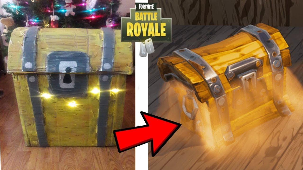 10 Real Life Fortnite Battle Royale Items Scar Chest Potion