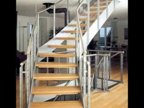 Escaleras de madera escaleras de metal youtube for Escaleras metal madera para interiores