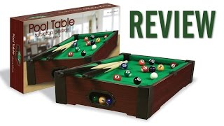 Westminster Tabletop Mini Pool Table Review 16 quot x 9 quot