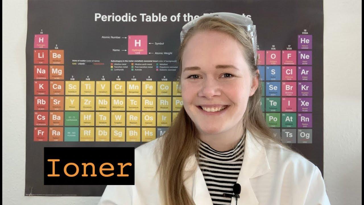 Ioner - deres relation til atomer, opbygning og Det Periodiske System (fysik/kemi)