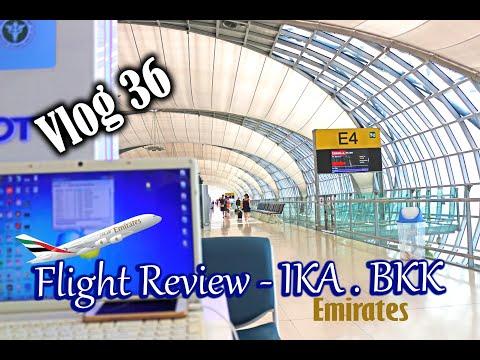 Emirate airline Flight Review Boeing 777-300ER   IKA - Dubai  (Vlog 36)