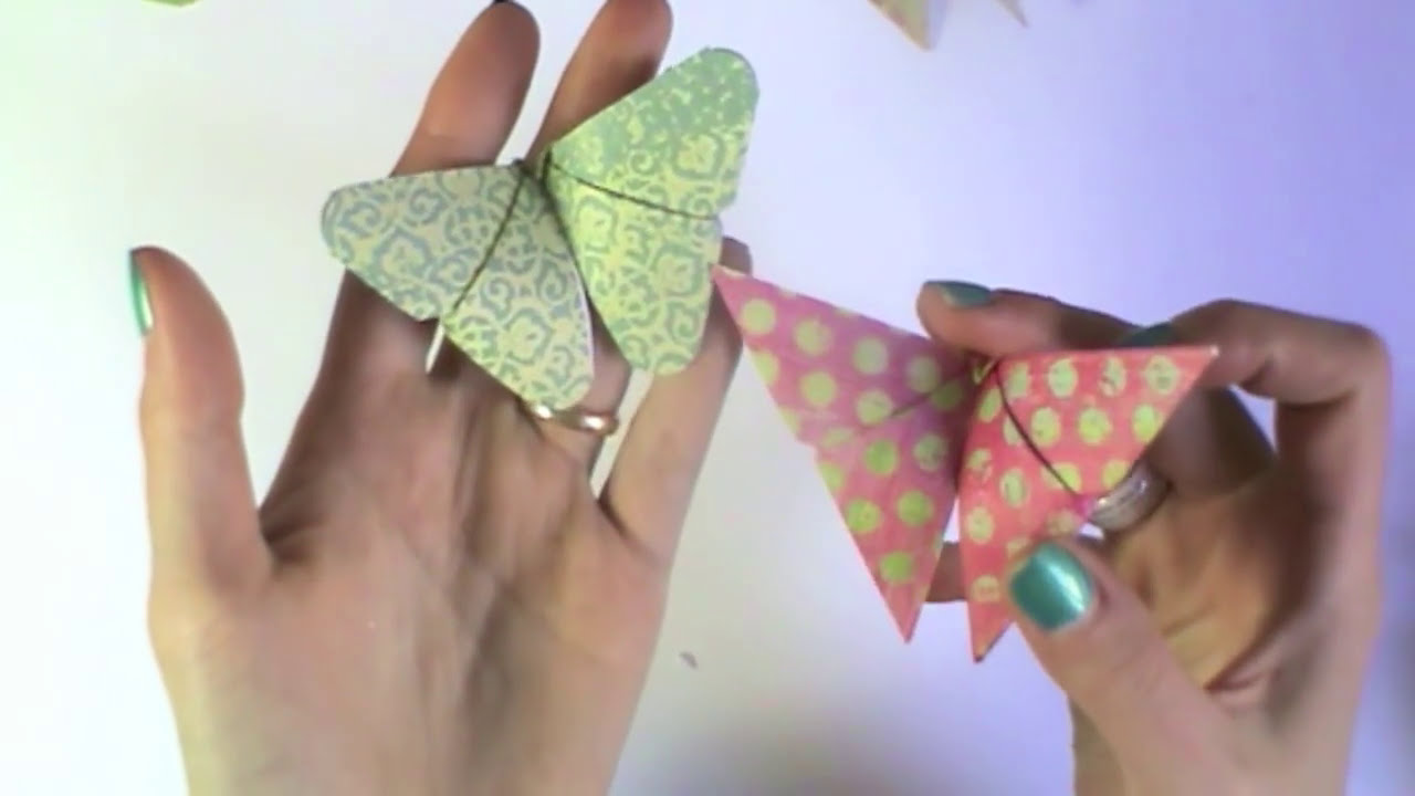 Farfalle Fai Da Te farfalle origami tutorial-origami butterfly-diy-farfalle di carta fai da te