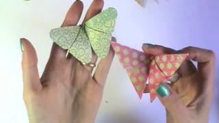 Farfalle Origami Tutorial-Origami Butterfly-DIY-Farfalle di carta Fai da te