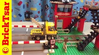 Train Lego World City Town 10128 Train Level Crossing 9V