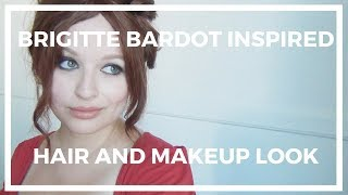 Brigitte Bardot Inspired Hair and Makeup ♥ Faux Bangs Tutorial