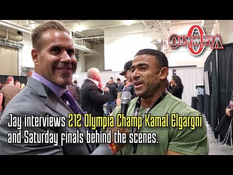 JAY INTERVIEWS NEW 212 OLYMPIA CHAMPION KAMAL ELGARGNI & BEHIND THE SCENES BACKSTAGE  AT THE FINALS