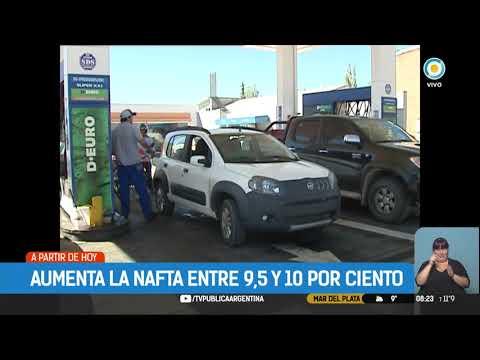 Combustibles: Tercer aumento en lo que va del año