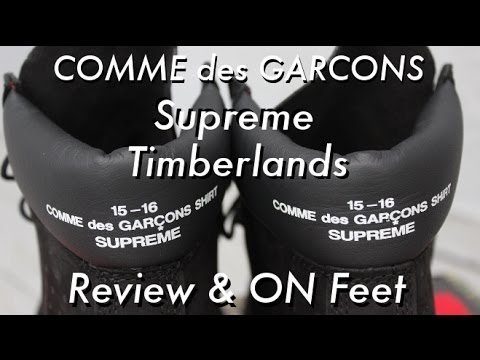 a4a864619ad9 COMME des GARÇONS x Supreme x Timberland- Review   On Feet - YouTube