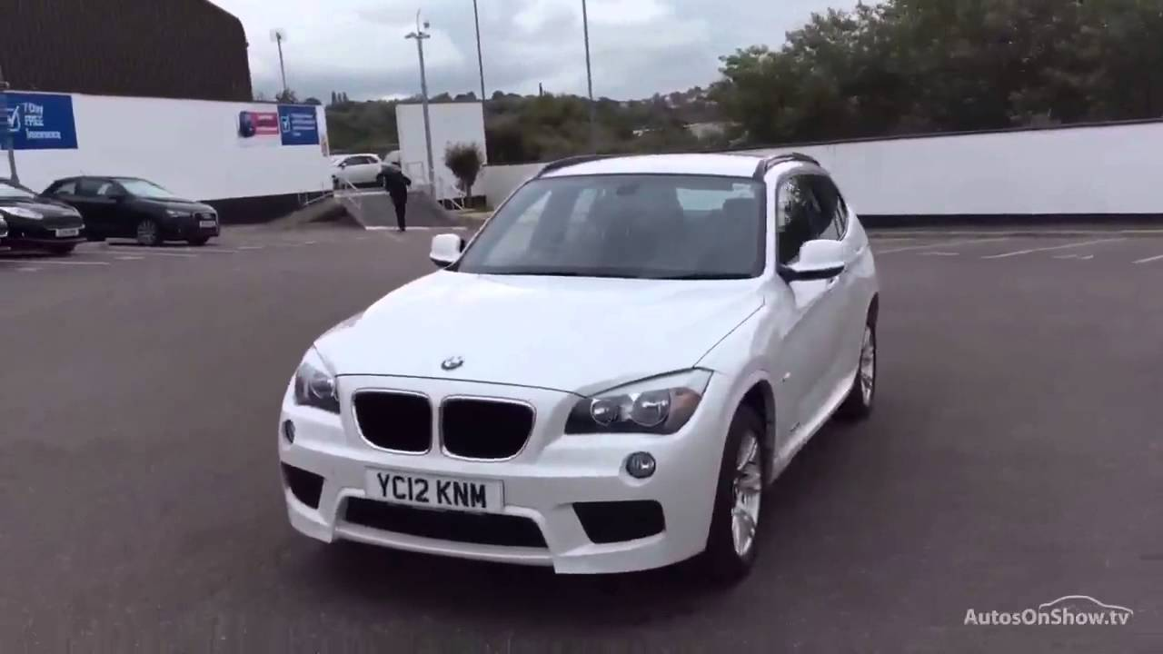 bmw x1 xdrive18d m sport white 2012 youtube. Black Bedroom Furniture Sets. Home Design Ideas