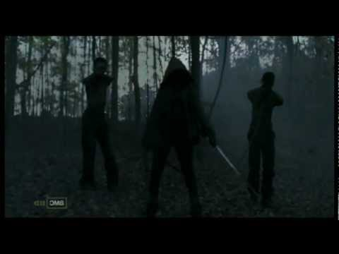 The Walking Dead - Michonne Saves Andrea