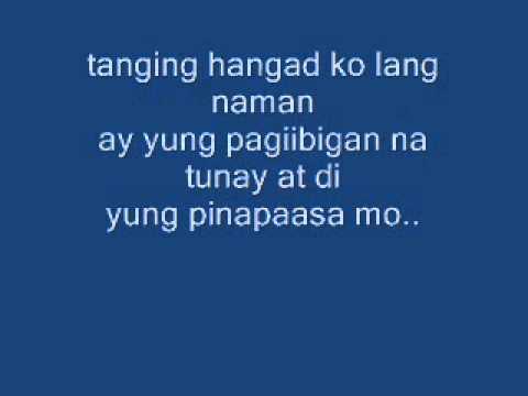 malaya kana by:kalye gwapo lyrics