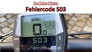 Fehlercode 503 Bosch E-Bike - E-Bike unterstützt nicht
