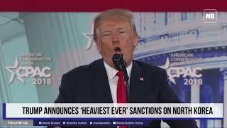 Trump announces 'heaviest ever' sanctions on North Korea