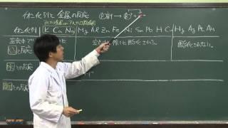 【化学基礎】酸化還元反応⑨~イオン化列と金属の反応~