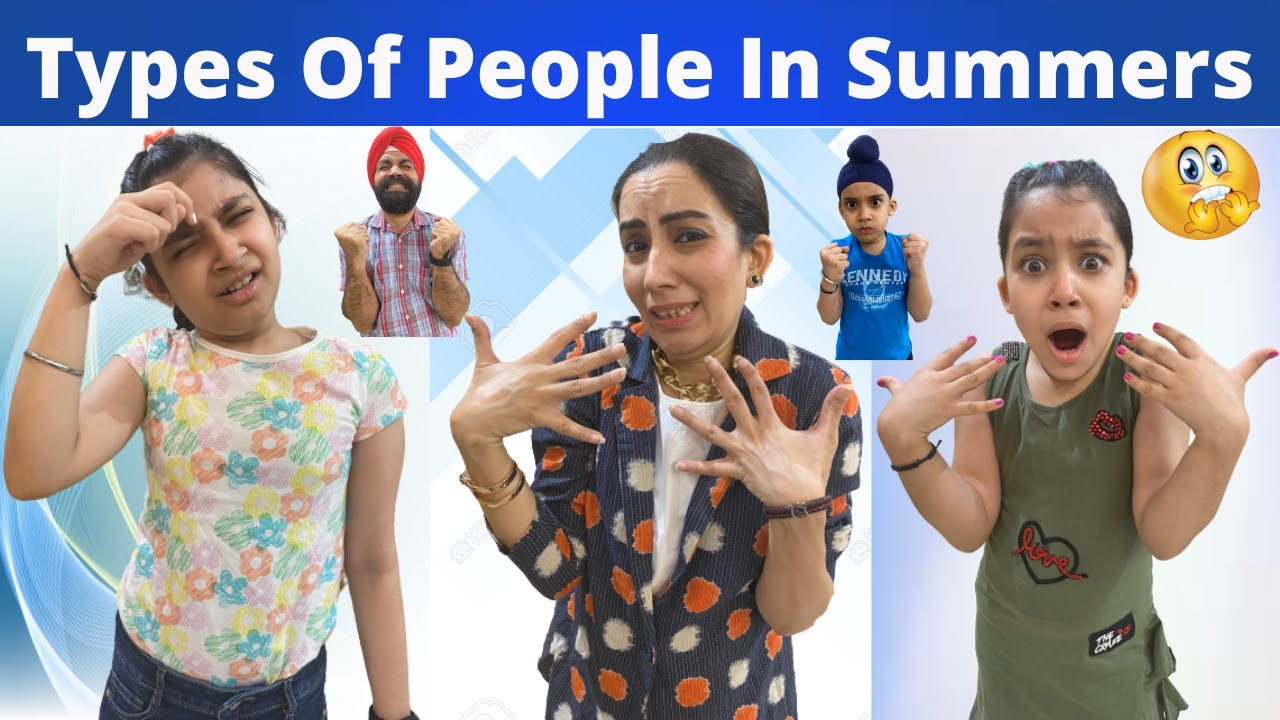 Types Of People In Summers | RS 1313 VLOGS | Ramneek Singh 1313