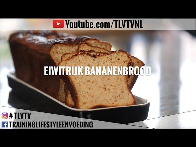 Eiwitrijk bananenbrood (veel eiwitten, weinig calorieën)