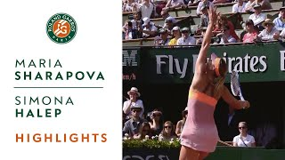 Maria Sharapova v Simona Halep Highlights - Women