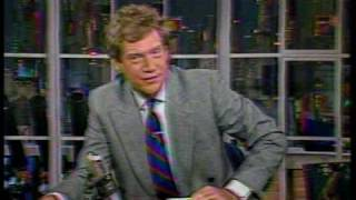 NBC-TV David Letterman plays JAM jingles