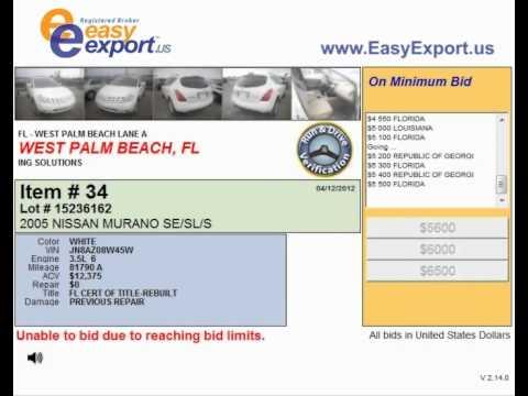 West Palm Beach Auto Auction Sales Offer