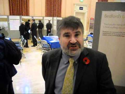 Mayor Dave Hodgson at the Town Centre Exhibition