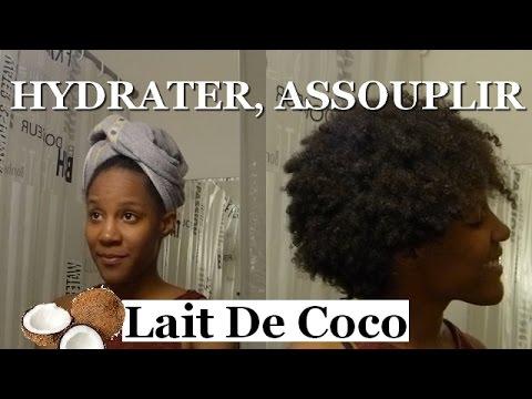 hydrater assouplir les cheveux apr s le shampoing lait de coco soin maison youtube. Black Bedroom Furniture Sets. Home Design Ideas