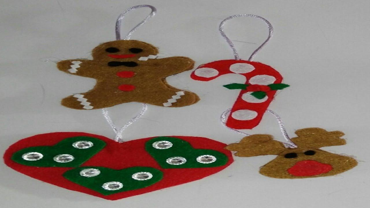 Como hacer adornos navide os para el arbol de navidad - Para navidad manualidades ...