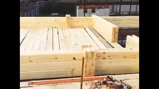 Клееный брус 3 венца, пора закладывать скрытую электрику(Начало строительства! 2 этаж в   #  клееном     #  Брусе  ! К Новому году стены будут готовы Start of   #  construction  !..., 2015-12-22T11:58:22.000Z)