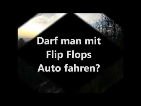 darf man mit flip flops auto fahren laut stvo keine vorschrift youtube. Black Bedroom Furniture Sets. Home Design Ideas