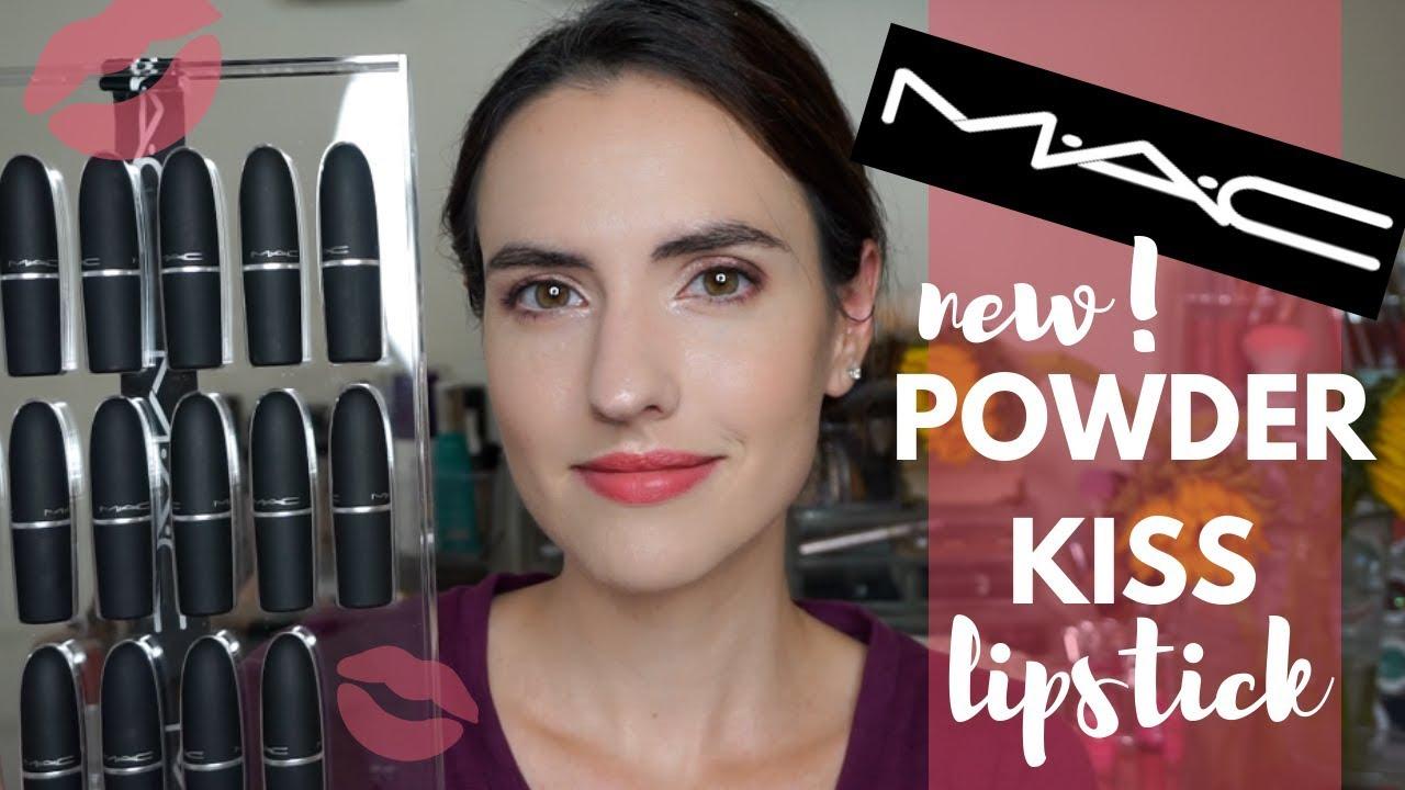 New Mac Powder Kiss Lipsticks Lip Swatches Of All 16 Shades