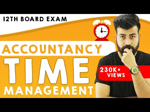 Time Management !!! Not a Problem - Accountancy Class XII Boards #teamcommercebaba