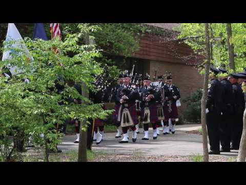 Funeral for Norton Shores Officer Jonathan Ginka