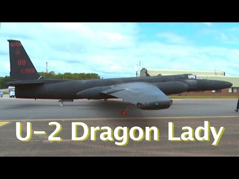 Two U 2 Dragon Ladies Land at RAF Fairford, United Kingdom