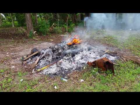 Trash Fire - Orange Walk Distric, Belize