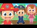 FIVE LITTLE BABIES with Police Puppy and Friends 🎶 Educational Nursery Rhymes