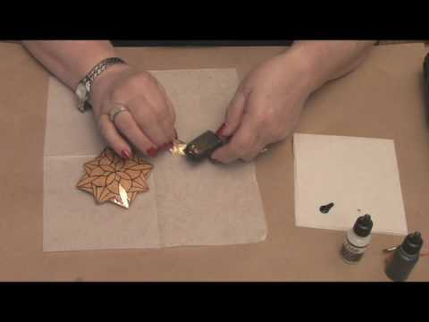 Maria Dellos Gourd Art- Metal Leafing Part 1