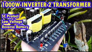 1000W Inverter 2 Transformer with ShortCircuit, Low Voltage Cut OFF ,Reverse Battery Protection